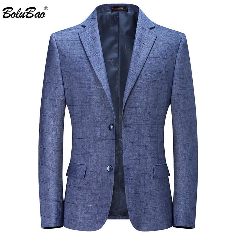 BOLUBAO Casual Brand Men Blazers Spring Autumn New Men's Solid Color Business Plaid Suit Coats Male Comfortable Wild Blazers