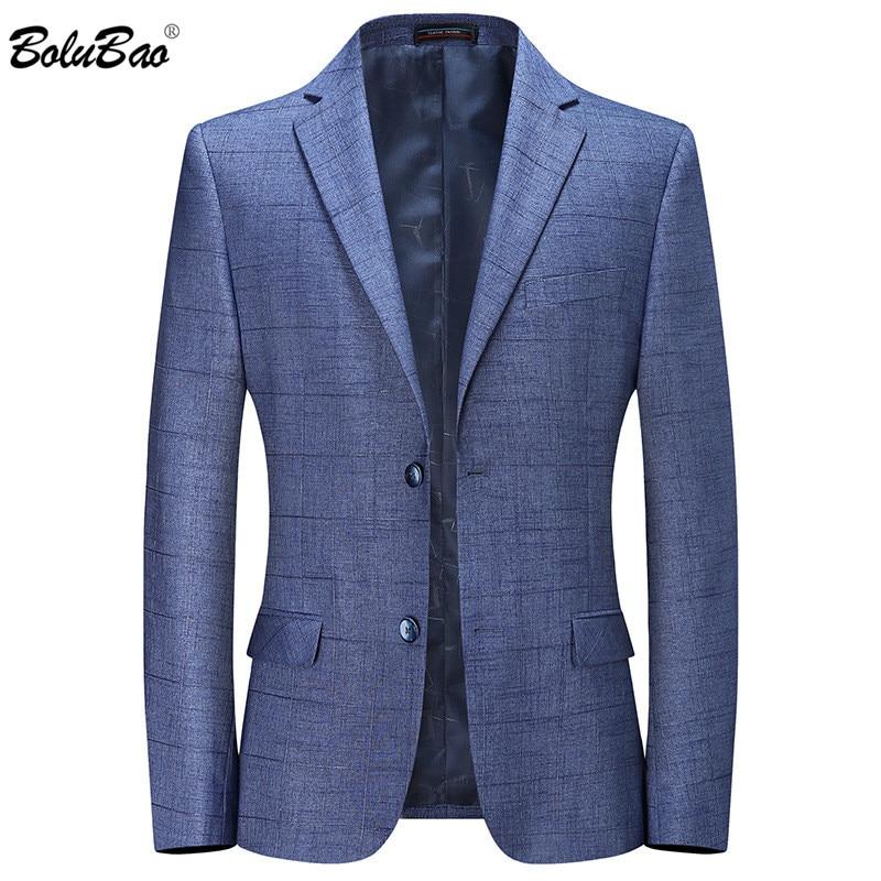 BOLUBAO Casual Brand Men Blazers Spring Autumn New Men's Solid Color Business Plaid Suit Coats Male Comfortable Wild Blazers