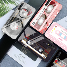 Magnetic Tape Case for Huawei P30 Lite P20 Mate 20 Lite Nova 3 P smart Z For Honor 9 10 Lite 8X Max Fashion Tempered Glass Cover цены