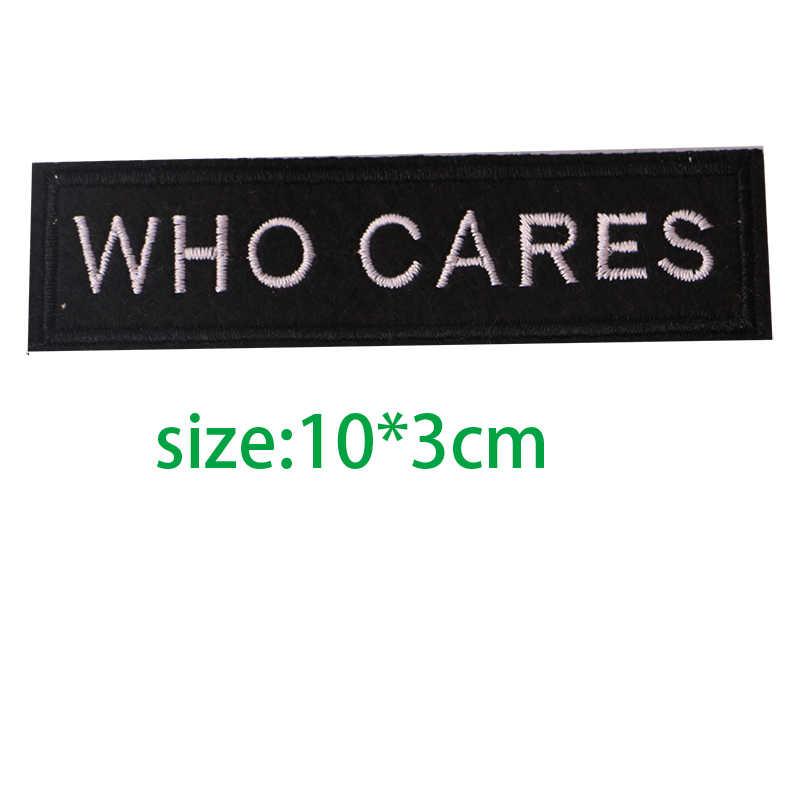 1 قطعة أبيض أسود الإنجليزية الأبجدية مستطيل التطريز بقع للملابس المشارب مكتوب الكلمات ملصق الملابس رسائل شارات
