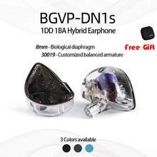 BGVP DN1S In-ear Earphones Hifi earbuds noise cancelling wired MMCX Detachable Cable With Mic music player earphone running shozy neo 3ba driver in ear earphones hifi premium customized monitor iems with detachable cable