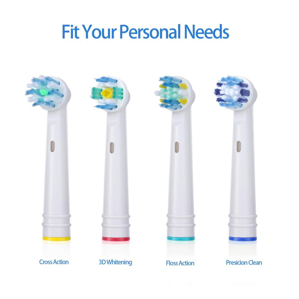16Pcs Toothbrush Heads for Oral B Electric Toothbrush 4 Model for Oral B Electric Advance/Pro Health/Triumph/3D Excel/Vitality 5