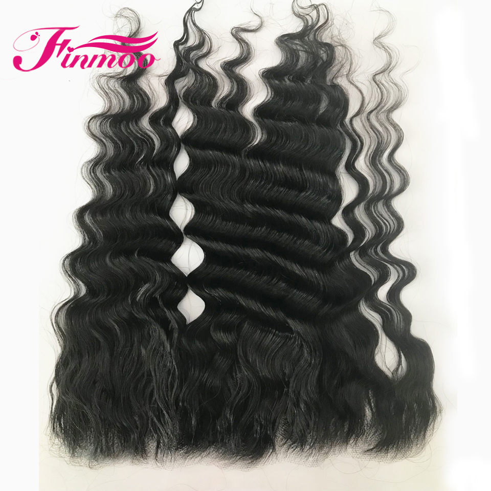 Deep Wave Invisible HD Transparent Lace Frontal Closure Brazilian Remy Hair 13x4 Lace Frontal 130% For Black Women For Winter