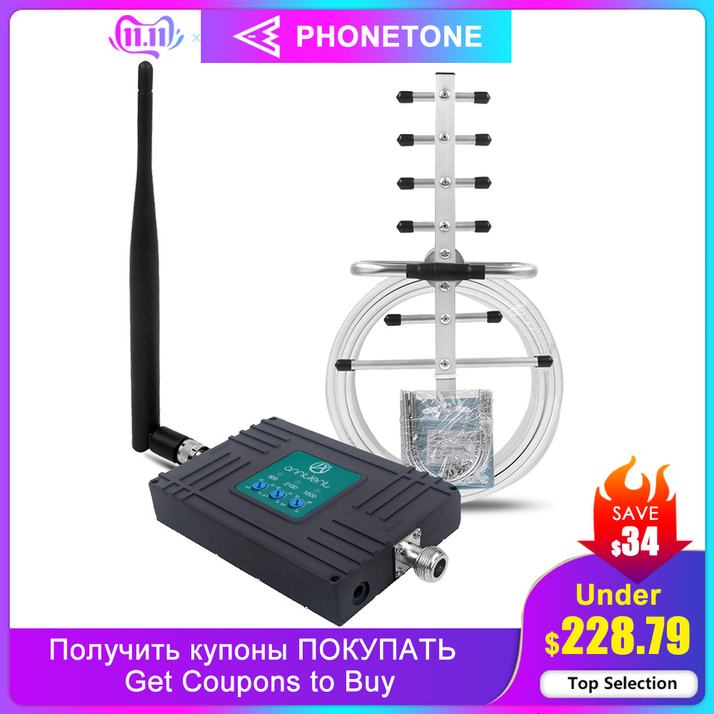 2G 3G 4G Mobile Signal Booster Tri Band GSM 900/ LTE 1800/WCDMA UMTS 2100MHz Cell Repeater Band 8/3/1 Amplifier Boost Call/data