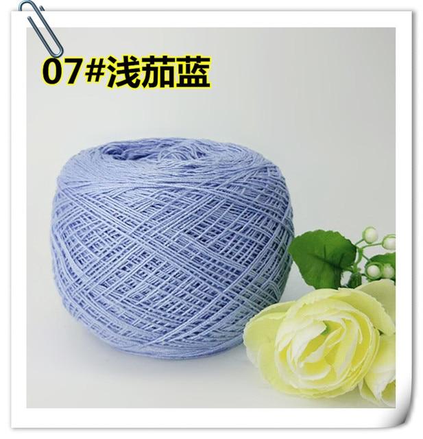 250g Spring summer 100% cotton 6# lace yarn for knitting 1mm baby crochet yarn Handwork Crocheting sweater DIY thread t49
