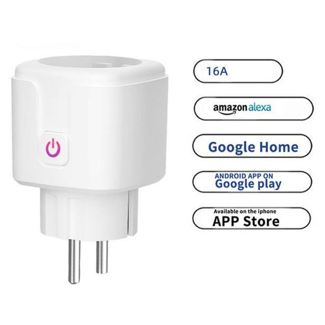 WiFi חכם תקע 16A האיחוד האירופי שקע Tuya חכם חיים אפליקציה לעבוד עם Alexa Google בית עוזר קול בקרת כוח צג עיתוי