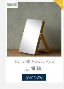 casa oval espelho de maquiagem europeu resina