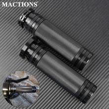 Мотоциклетные ручки с ЧПУ 1 дюйм 25 мм черные для harley dyna