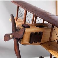 Wooden Static Airplane Model Display Replica Craft Wood Furnishing Kids Gifts