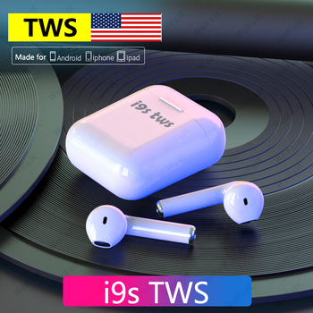 Auriculares originales de Apple AirPods i9s TWS Bluetooth en el oído auriculares inalámbricos Air Pods auriculares deportivos manos libres con micrófono para iPhone Android