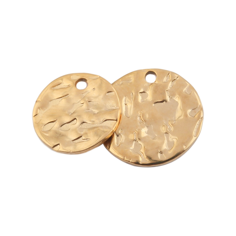 20pcs Stainless Steel Tag Brass Blank Stamping Tag Pendants Jewelry Charms 10mm