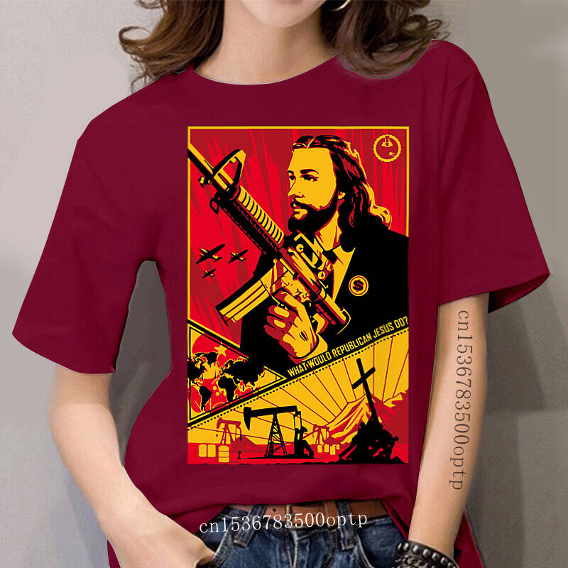 WHAT WOULD REPUBLICAN JESUS DO, MONEY POWER SICKNESS T-Shirt Cotton Fashion Classic Tee Shirt