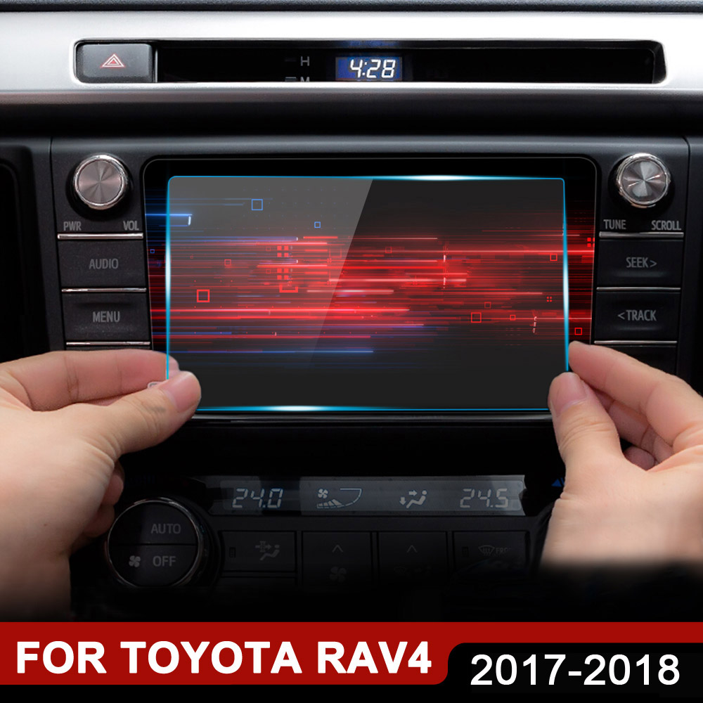 <font><b>Accessories</b></font> For <font><b>Toyota</b></font> <font><b>RAV4</b></font> RAV 4 <font><b>2018</b></font> 2017 Car GPS Navigation Tempered Glass Screen Protector Steel Protective Film 7 8 inch image