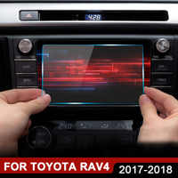 Accessories For Toyota RAV4 RAV 4 2018 2017 Car GPS Navigation Tempered Glass Screen Protector Steel Protective Film 7 8 inch