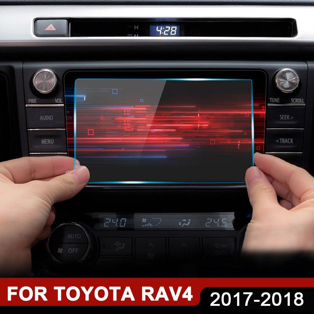 Zubehör Für Toyota RAV4 RAV 4 2018 2017 Auto GPS Navigation Gehärtetem Glas Screen Protector Stahl Schutz Film 7 8 zoll