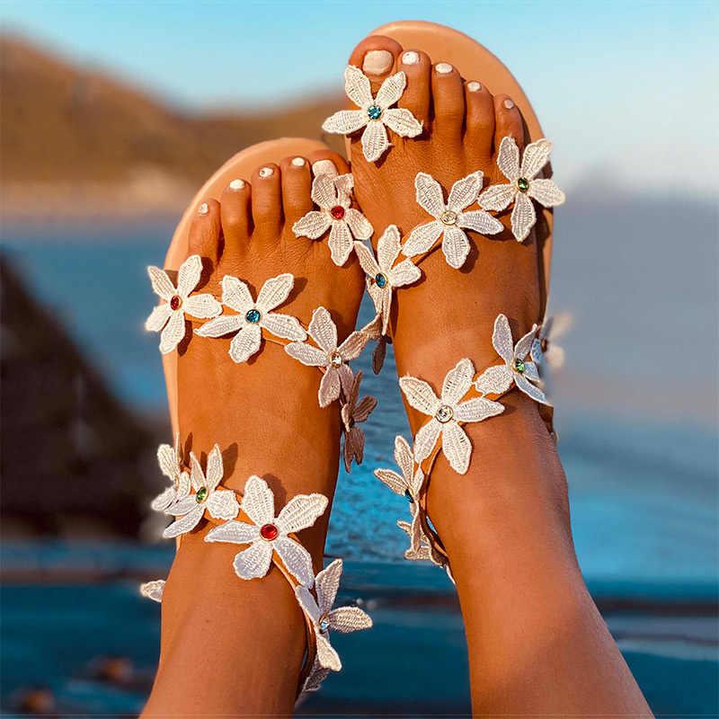 Giày Xăng Đan Nữ 2020 Mùa Hè Mới Giày Người Phụ Nữ Bohos Giày Đi Biển Với Đế Bằng Plus Kích Thước 43 Võ Sĩ Giác Đấu Sandalias Mujer Lật dép Xỏ Ngón