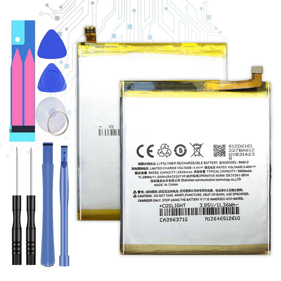 3000mAh BA612 Replacement Battery For Meizu Meizy Mei Zu 5S M5S M612Q M612M BA 612 BA-612   With Track Code