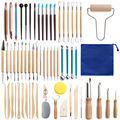 61pcs Ceramic Clay Tools Set Polymer Clay Tools Pottery Tools Set Wooden Pottery Sculpting Clay Cleaning Tool Set Tool Sculpture