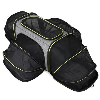 Pet Carriers Four Sides Expanded Dog Carriers Pet Car Travel Bag Expandable Pet Cat Puppy Dog Bag Slings Tote For Small Animals фото