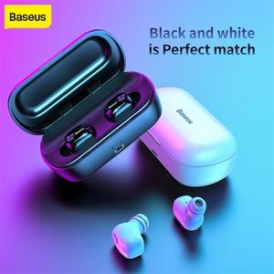 Image 1 - Baseus W01 TWS אמיתי אלחוטי Bluetooth אוזניות 5.0 חכם אלחוטי אוזניות עם מיקרופון 6D סטריאו קול אוזניות אוזניות עבור טלפון