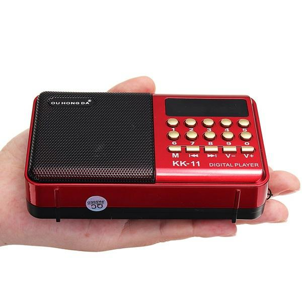 K11 Digital Radio Speaker Portable Mini FM Radio USB TF MP3 Music Player Telescopic Antenna Handsfree Pockets Receiver Outdoor
