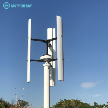 Vertical Wind Turbine Generator 300w 400w 600w 12v 24v 48v with controller or on/off grid inverter 3 Phase With 3 blades forHome
