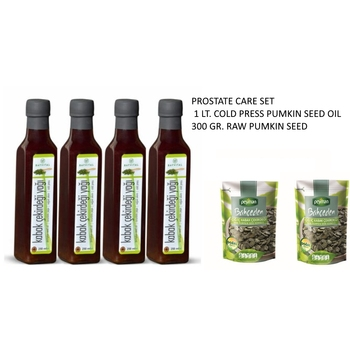 Raw Pumpkin seed 300 gr. and Cold Press Pumpkin oil  1 liter for Prostate Therapy
