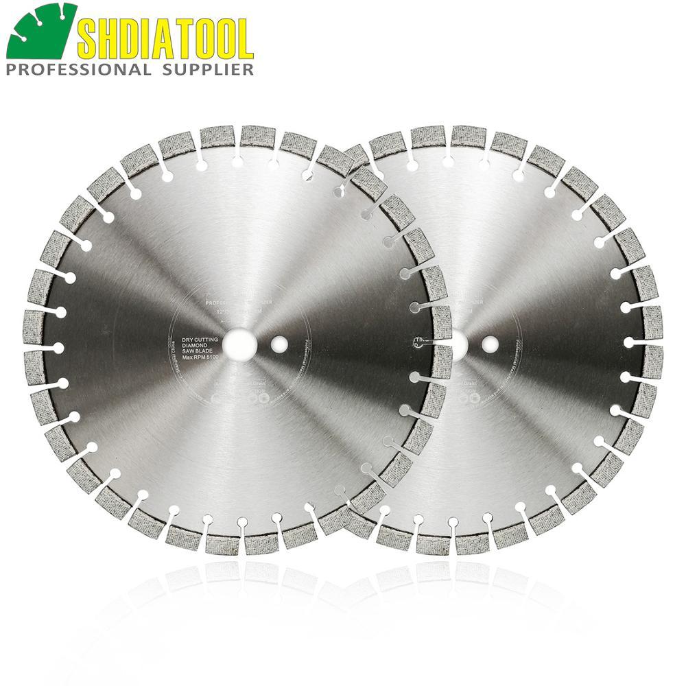 SHDIATOOL 2 pièces professionnel Laser soudé Arrayed diamant lame de scie disque de coupe matériau dur diamant roue 12