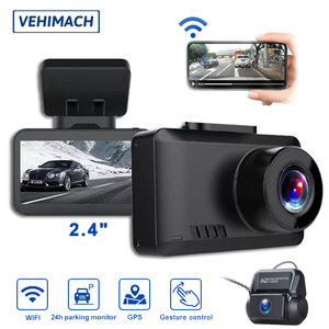 Video Recorder Dash Cam 4K WIFI GPS Car Mirror DVR Dashcam Front And Rear View Mini Vehicle Camera Dual Len Auto Parking Monitor