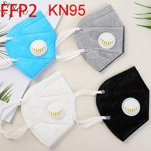 100 black protective face mask mouth kn95 ffp2 facial air pollution filter,reusable.kn95mask.facemask pink kn 95 ffp22 ffp 2 50