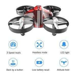 Image 4 - 미니 드론 Quadrocopter Dron RC 헬리콥터 Quadcopter 고도 홀드 헤드리스 모드 드론 2.4G 원격 제어 항공기 완구