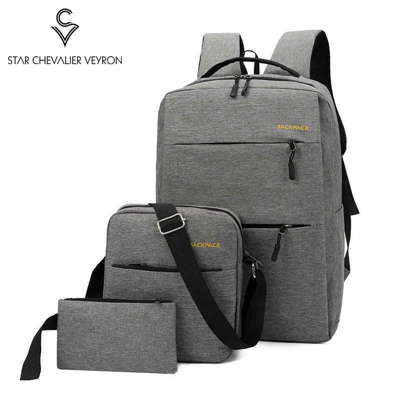 SCV Bags For Women 2019 Shoulders Package  3in1 Nylon Cloth Backpack Mochila
