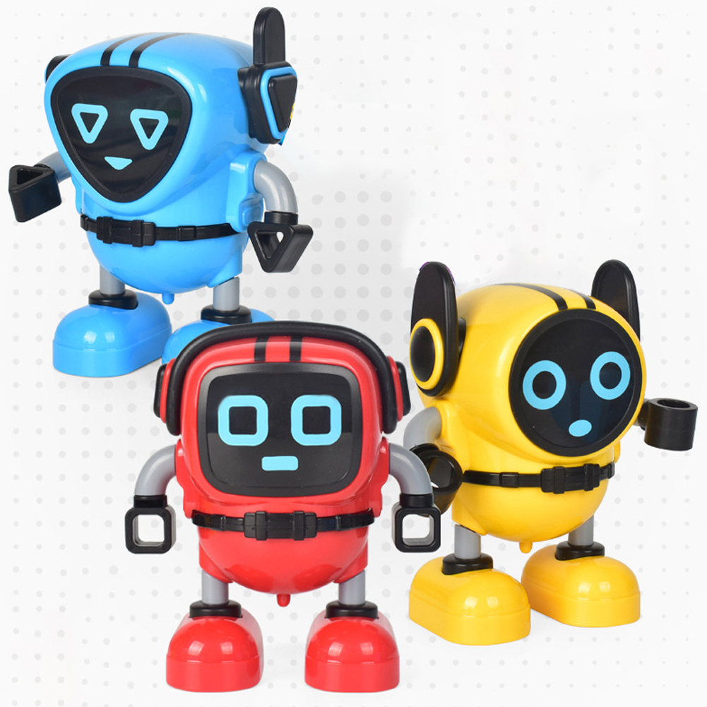 Robot Toys Detachable Gyroscopes Tops 3-Modes Wind-up Car Launching Mode Robots Gyro Pull Back Educational Toy