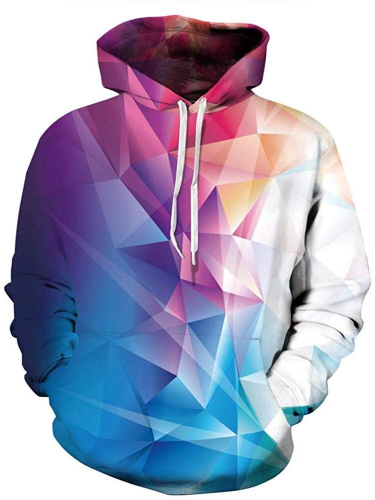 Sweat à capuche galaxie Espaço moletom com capuz 3d marca vestuário boné neutre Harajuku 3D galaxie imprimé sweat à capuche à manches longues