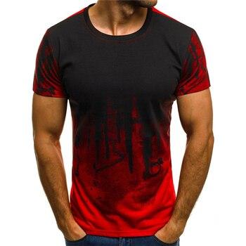 цена на The latest 3d-printed T-shirt ink design short sleeve casual summer T-shirt fashionable round neck T-shirt men's T-shirt harajuk