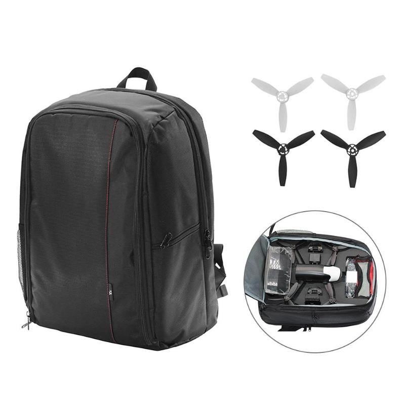 New Sport Camera Storage Shoulder Bag Case Backpack Light Weight Large Capacity  For Parrot Bebop 2 FPV RC Drone With Propellers