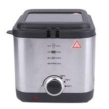 Компактная Корзина Для Сковороды на 1,5 литров с антипригарным маслом, фритюрница из нержавеющей стали 900 Вт, кухонные инструменты