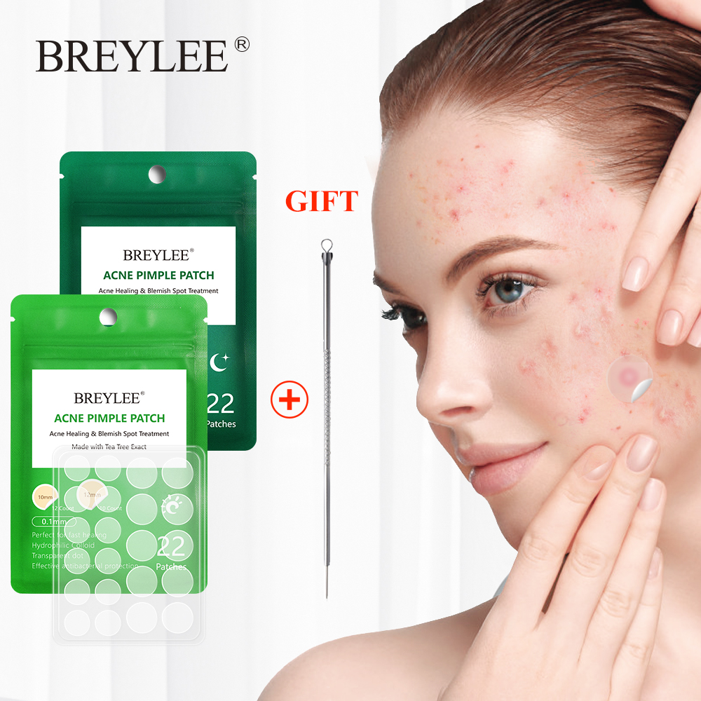 BREYLEE Face Mask Acne Pimple Patch+1pcs Acne Removal Needle Black Dots Acne Treatment Facial Cream Sheet Mask Skin Care Tools image