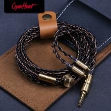 OPENHEART 8 النواة الأصلي MMCX كابل ل سماعات 3.5 مللي متر ترقية استبدال الفضة الكابلات 1.4m إطالة Goodlooking شخصية