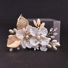 TRiXY XZ02 Golden Leaf Groom Boutonniere Wedding Party Man's Suit Corsage Wedding Brooch Custom Floral Wedding Corsage
