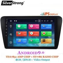 SilverStrong Android9.0 4 Гб ОЗУ 8 ядерный автомобильный DVD для Skoda Octavia3 Octavia A7 радио Bluetooth DAB+ опция TPMS DSP