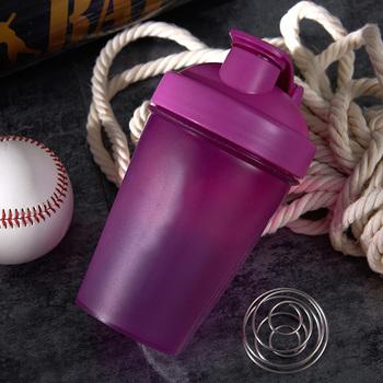 400ML Multifunctional Portable Plastic Drink Bottle Gym Sports Shaker Bottle Fitness Protein Powder Mixing Bottle Shaker Fitnedd tanie i dobre opinie Other sport shaker