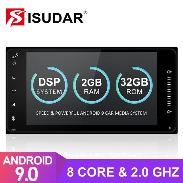Isudar 2 דין אנדרואיד 9 אוטומטי רדיו עבור טויוטה/קורולה/Terios/Altis/RAV4/קאמרי אוקטה core רכב מולטימדיה וידאו GPS ROM 32GB מצלמה