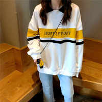 Hoodies Frauen Winter Freizeit Polo Kragen Harajuku Tops Frauen Pullover Studenten Brief Langarm Kpop Sweatshirt ropa mujer
