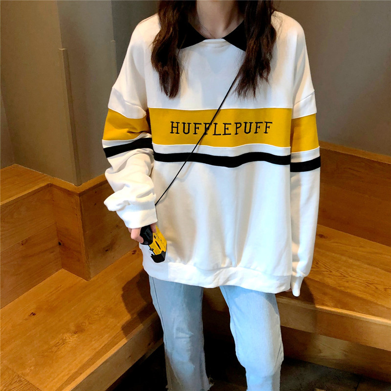 Permalink to Hoodies Women Winter Leisure Polo Collar Harajuku Tops Women Pullover Students Letter Long Sleeve Kpop Sweatshirt sudadera mujer