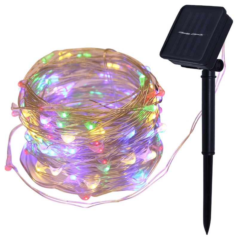 Top-Solar String Lights, 10M 100LED Outdoor String Lights, Waterproof Decorative String Lights For Patio, Garden, Gate, Yard, Pa