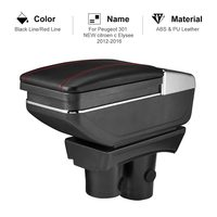 For Peugeot 301 New Citroen c Elysee 2012 2016 Car Armrest Box PU Leather Central Container Storage Box Car Styling Accessories