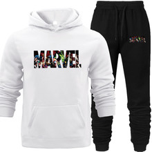 Tracksuit Mens Sweatshirt Marvel Heroes Characters Printed Hip Hop Street Wear Hooded Hoodies Pocket Pullover Stranger Things