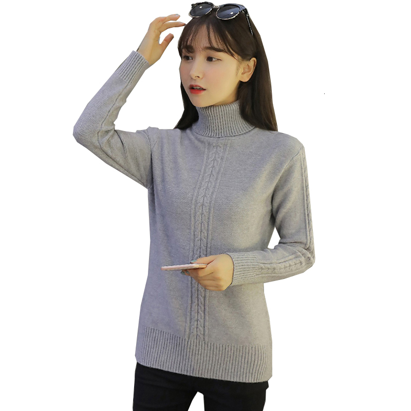 High Quality  New Herf Winter Culture Women's Knitted Sweater Thick Long Sleeves Warm Basic Tops Women's Clothing