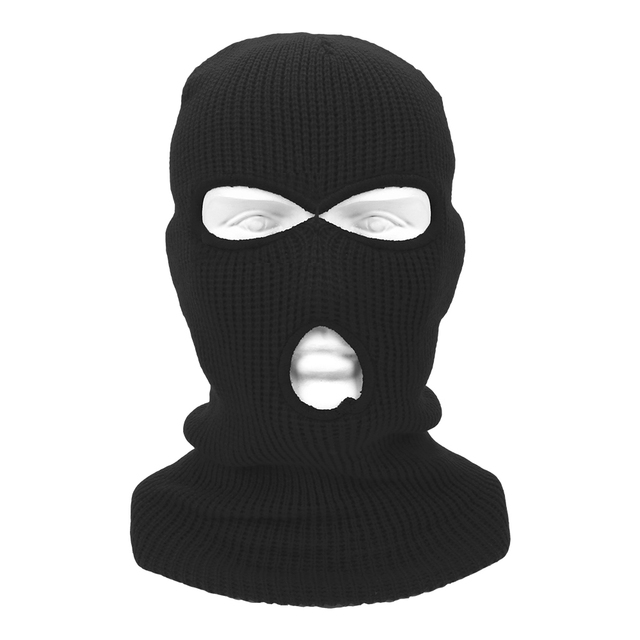 LEEPEE 3 Hole Balaclava Knit Hat Army Tactical Mask Winter Stretch Ski Full FaceMask Full Face Helmet 4